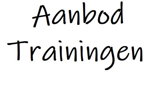 Aanbod trainingen – open inschrijving